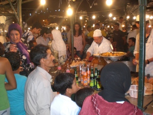 Dinner in the Djemaa El Fna Square