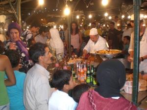 Dinner in the Djemaa El Fna Square