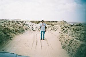 Road off the escarpment to the salt flats