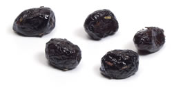 Black, salt-cured olives