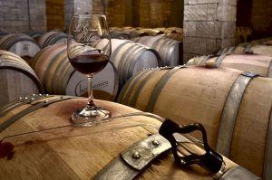 Wine aged in oak casks